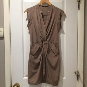 Ark & Co Taupe Nude Tan Dress with Pockets Small